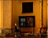 Follow the Light 5x7 Art Photo Print, nun walking in Krakow, Poland