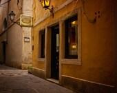 Caffe Bella Venezia, Slovenia cafe, street in Piran 6x6 Fine art photo