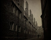 Gothic TTV, Cambridge street 6x6 art photo print, bicycle