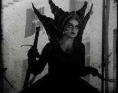 TTV Witch patrol 8x8 black and white, gothic fine art photo print
