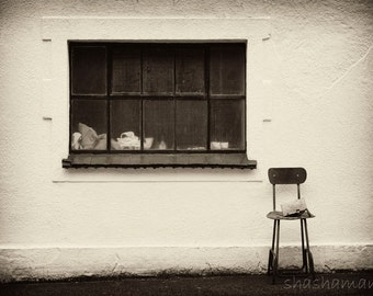 Out of place, The missing chapter 8x12 Fine art photo, curious chair street scene
