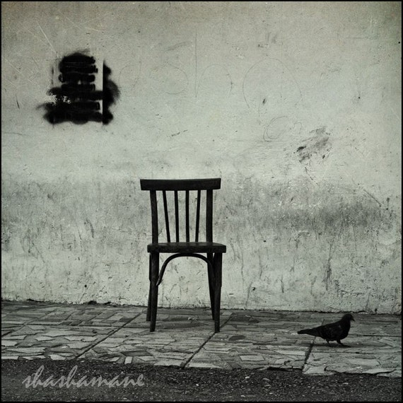 Surreal chair Another one of life's little mysteries 8x8 art photo