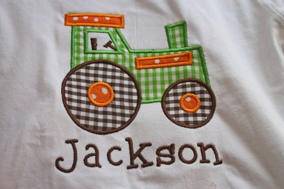 pretty handsome personalized tractor shirt