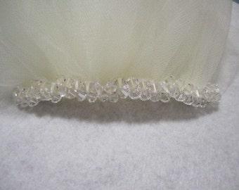 Add cluster swarovski crystals to veil - VEIL SOLD SEPARATELY
