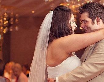 75 inch single tier classic sheer plain and simple elegant chapel veil floor length waltz wedding veil bridal veil light ivory diamond white
