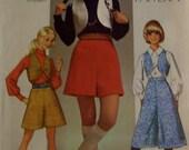 Simplicity 8921 Vintage Pantskirt and Vest   Size 9  UNCUT