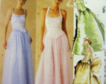 McCalls 9672  Evening Tops, Skirt and Stole  Size 4 to 8 UNCUT