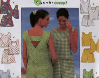 Simplicity 7132 Easy Shorts and Top 6 Designs Size 4 to 8 UNCUT
