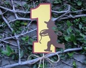 Retro Cowboy Table Decoration or Birthday Cake Topper- You Choose Age - MADE TO ORDER