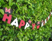 Minnie Mouse Birthday Banner - MADE TO ORDER