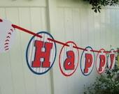 Baseball Birthday Banner, Baseball First Birthday, Baseball Banner, Baseball Garland, Photo Prop - MADE TO ORDER