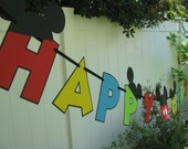 Mickey Mouse Clubhouse Happy Birthday Banner - MADE TO ORDER