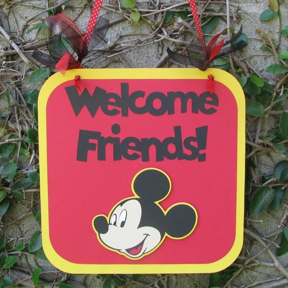 Mickey Mouse Party Door Sign - MADE TO ORDER