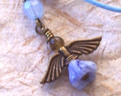 Blue Angel Cell Phone Charm