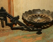 Vintage Wall Sconce Cast Iron Candle Lamp Holder Black