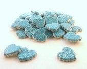 Mosaic Tiles-Heart tiles ceramic mosaic tiles - Turquoise Blue hearts