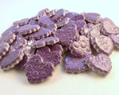 Heart tiles ceramic mosaic tiles -  Purple hearts