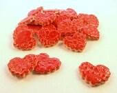 Red hearts, Mosaic tile - Ceramics