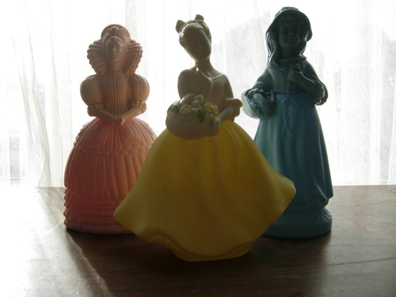 S A L E, Porcelain Trio of Ladies Perfume Bottles by Avon - was 32 now 19