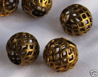 20pcs 11mm Round Bronze Spacer Loose Beads Jewelry Beads Vintage Style s009