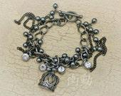 Oxidized Crown Bracelet