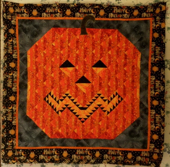 Jack-O-Lantern Quilted Wallhanging