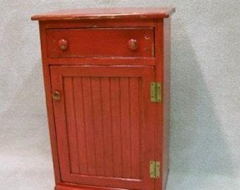 Grandma's Primitive Keeping Cupboard  / Rustic Early American Storage, Primitive Americana