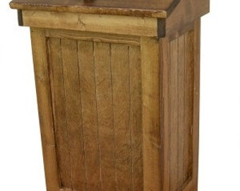 LARGE Primitive Country Trash Bin Wooden (30 Gallon Large Size)