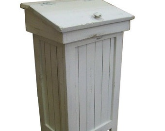 Antiqued Distressed Trash Bin