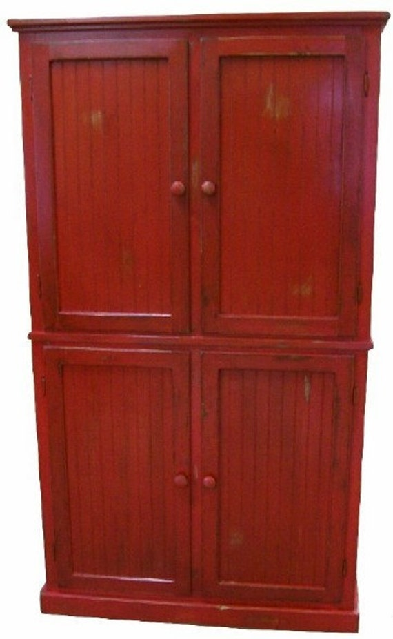 Red Pantry Cabinet With Pantries On Pinterest Pantry Cupboard Pantry Cabinets And With In Wall