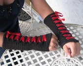 Reserved for Elin Saldana from ecsaldana: Made-To-Order Corset Wrist Warmers