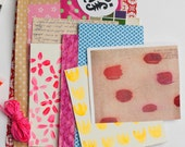 paper kit scrapbooking collage goods pack A5 art kits mixed media vintage