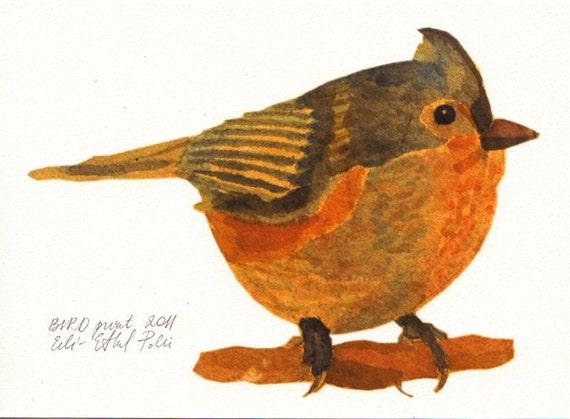 bird art print illustration drawing woodland home decor scandinavian nordic