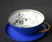Beautiful blue enamel cup.