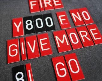 Burn after reading. Magnetic mismatched letters.