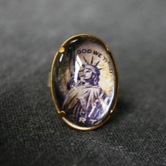 Liberty handmade purple ring.