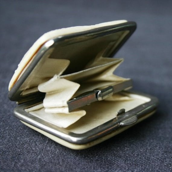 Shhh don't tell. Antique tiny purse. Mothers day precious gift idea for mum.