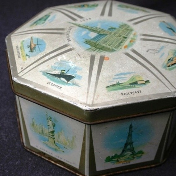 1958 Brussels Expo memorabilia box