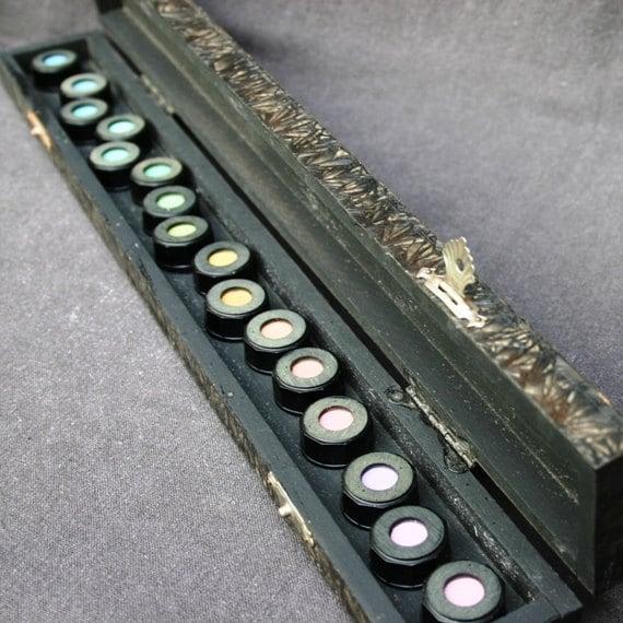 To test color vision. Vintage oculist measuring tool.