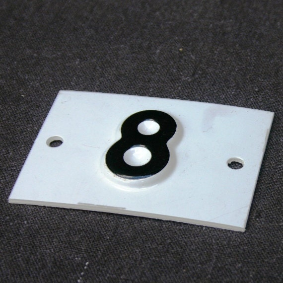 Lucky number 8. Vintage house plate numbers.