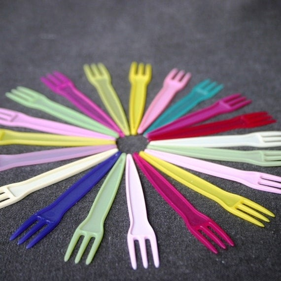 Take a fork. Pick your color. Let's party. Fab carnival collection.