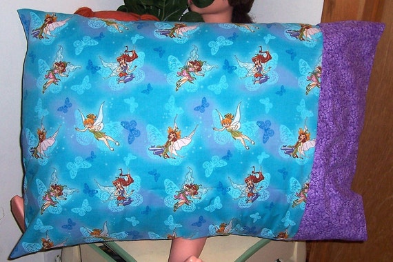 Standard Pillow Case-Tinkerbell and Fairy Friends Pillow Case