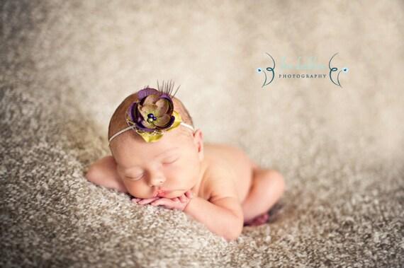 Deluxe Purple Artichoke Garden Flower Headband