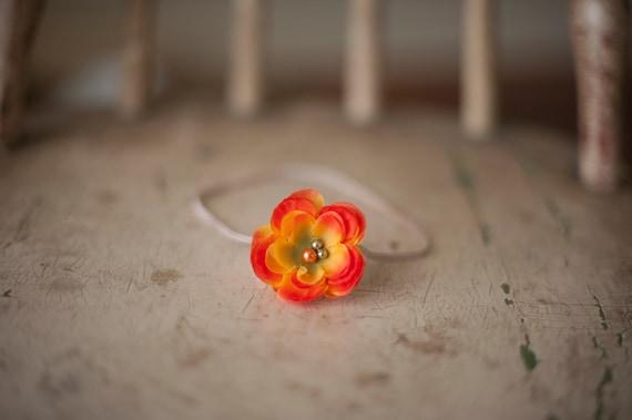 Small Orangey yellow flower headband