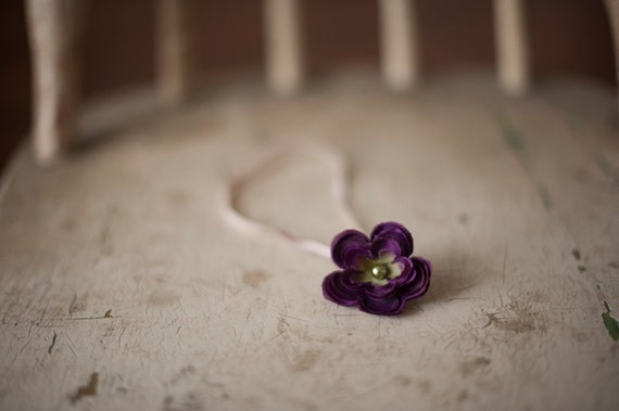 Dark Purple Flower Headband
