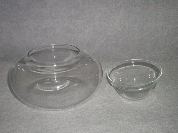Vintage glass dip or cocktail sauce server
