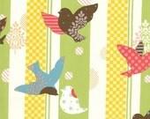 Its A Hoot Sky- BIRDS -Momo Stripe Birds In Flight PISTACHIO-Moda