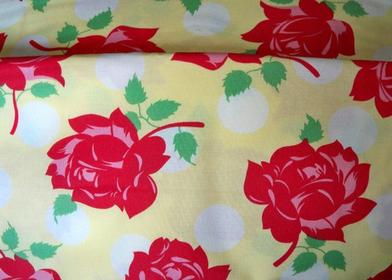 OOP Swell Urban chiks-Roses are Red-Yellow- background-urban chicks-Moda-One yard