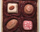 Box Of Chocolates Ceramic Art Tile