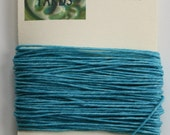 10 Yards of Turquoise 4 ply Irish Waxed Linen Thread